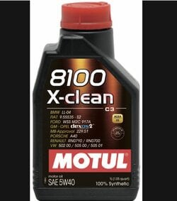 Масло моторне Motul 5w40 8100 x-clean