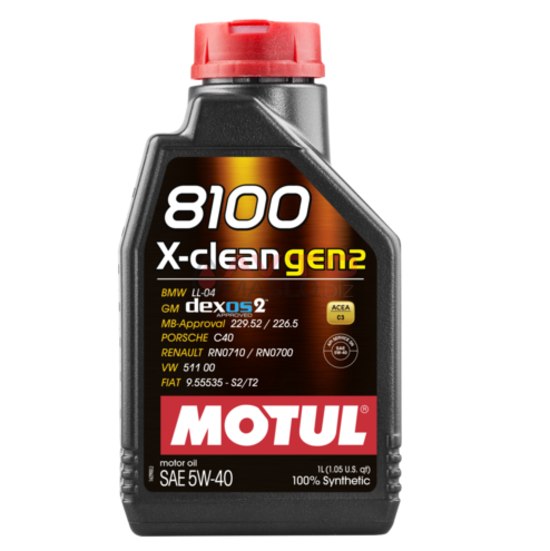 Масло моторне Motul 5w40 8100 x-clean  Gen2