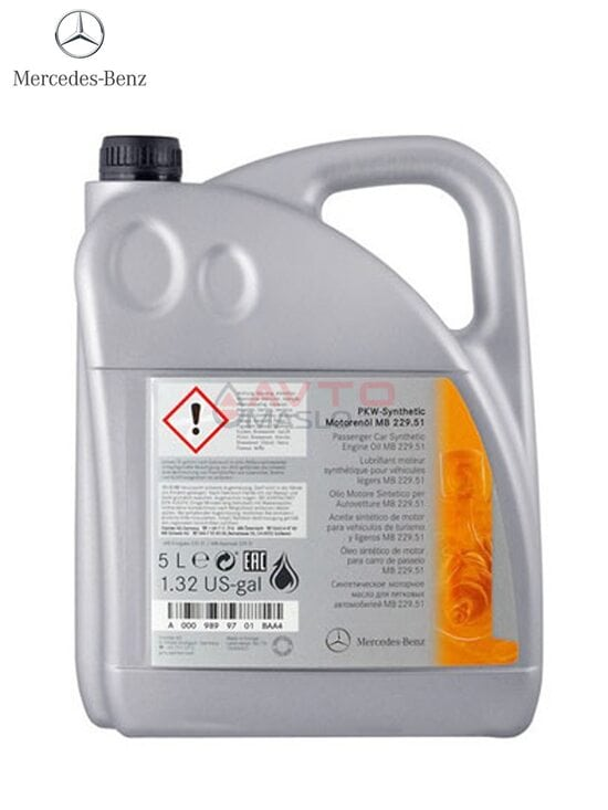 Моторное масло MERCEDES - BENZ ENGINE OIL 5w-30 (229.51) 5л